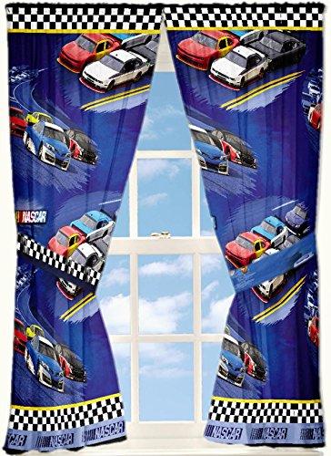Nascar 'Drafting' Curtain Panel, Set of  - Nascar Comforter Shopping Results
