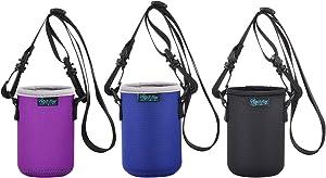 Beautyflier Neoprene Can Sleeve with Adjustable Shoulder Strap Insulator Carrier Holder for 12 Ounce Energy Drink Beverage Beer Can(standard 12 oz can sleeve)