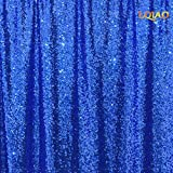 LQIAO Wedding Christmas Backdrop Glitter Royal Blue 20FTx10FT Sequin Backdrop Window Curtain Photo Booth Photography Party Decoration