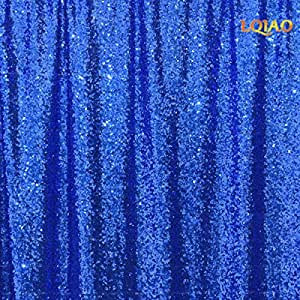 LQIAO Royal Blue Sequin Curtains 20ftx10ft Sequin Backdrop for Wedding Photo Booth,Party/Christmas Home Decoration,Drapes 600cmx300cm