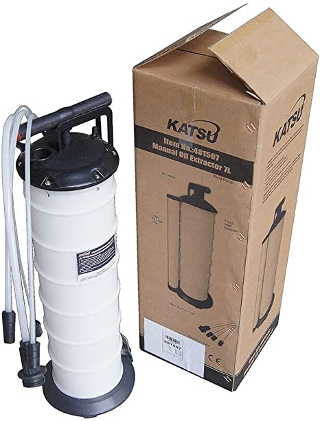 Bomba extractora de aceite y otros l/íquidos Oukaning capacidad para 9 litros. succi/ón manual