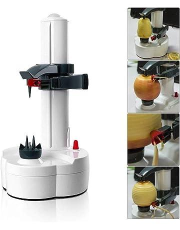 Apple Peeler - Pelador multifunción con cuchilla de acero inoxidable eléctrico, pelador de patatas máquina