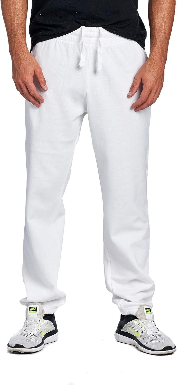 PROGO USA Men's Closed Bottom Casual Regular Fit Fleece Sweatpants with Elastic Waist