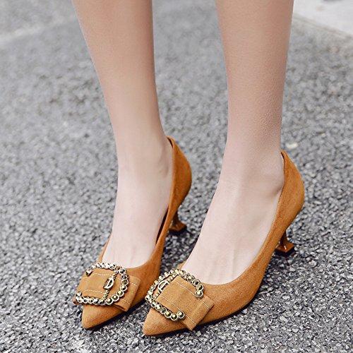 luz satén de a mujer Color con boda zapatos de de zapatos señaló de de la solo 5cm madre la perforación fina zapatos de agua femenino zapatos Qiqi tacón caramelo Xue y con gqCXIxw4w