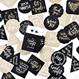 """Chris.W 1.65"""" Decorative Stickers Seals, Round/Square/Triangle/Flower Shaped Self Adhesive Labels, Thank You/Love/Good Night/Be Joyful and Etc. Various Bessing Words(50Pcs Assorted)"""