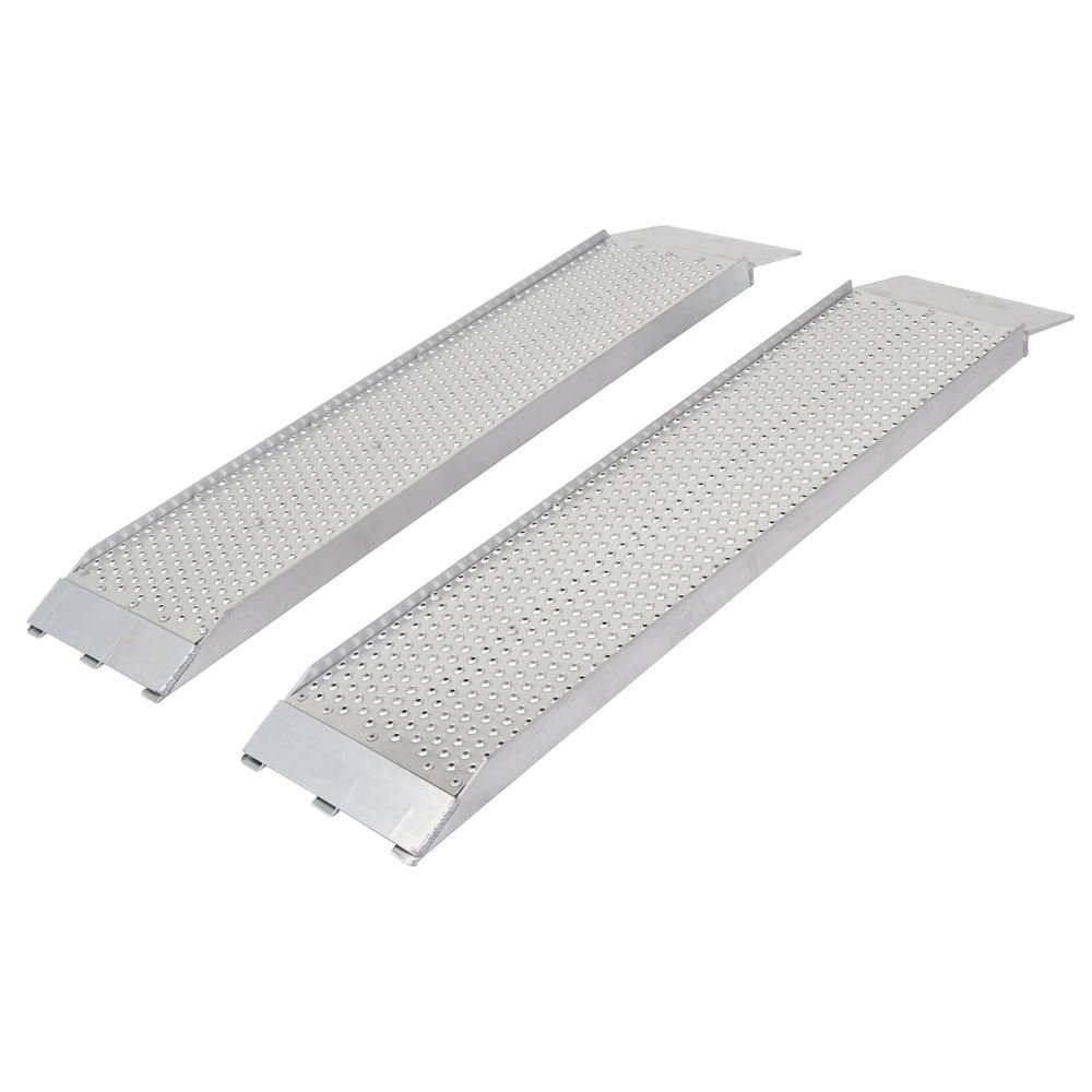 "Guardian S-368-1500-P Dual Runner Shed Ramps with Punch Plate Surface - 8"" Wide, 3'Long"