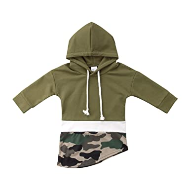 2c564520b39 Baby Boy Girl Camouflage Hoodies Tops Toddler Hooded Sweater Casual Cotton  Hoodie Sweatershirt Outfits for Kids