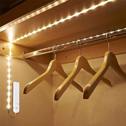 Night-Light Luz Nocturna inalámbrica Sensor de Movimiento LED Cama Armario escaleras luz USB LED