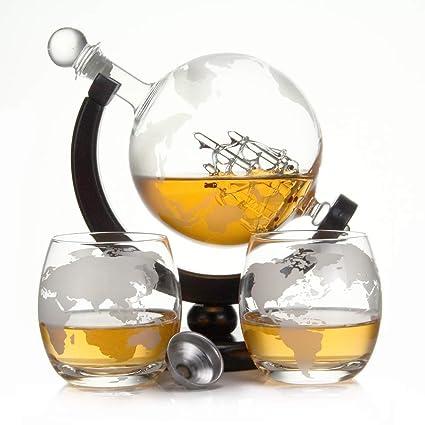 Botella de Whisky de 750 ml y 900 ml de Cristal soplado y 2 ...