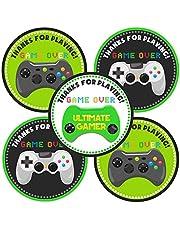 Adorebynat Party Decorations - EU videojuego le agradece pegatina - etiquetas bolsa de regalos de cumpleaños favores de partido los sellos del sobre - Set 30