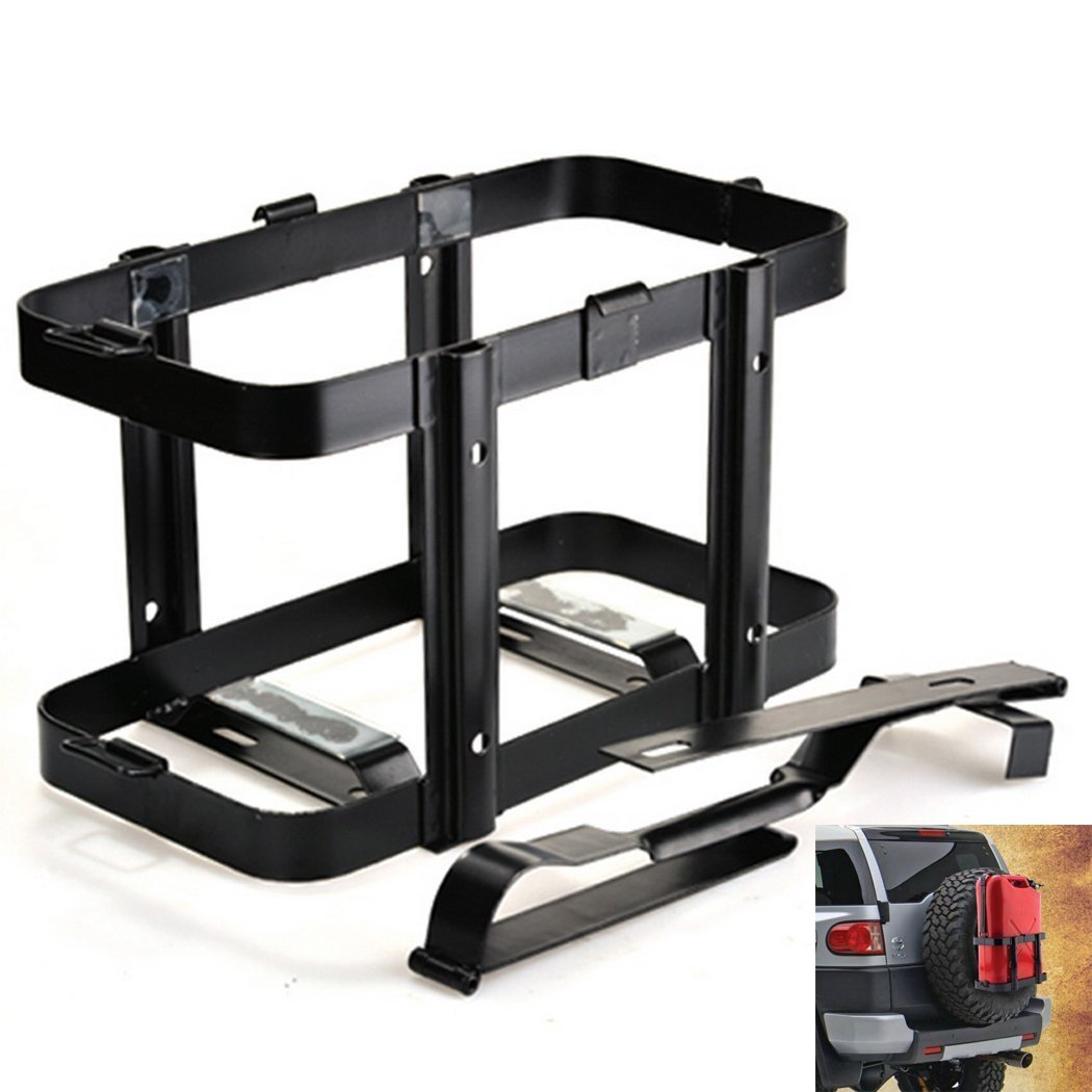 Leoneva Universal 20L/5 Gallon Jerry Gas Can Holder, Steel Fuel Oil Tank Bracket Mount Rack for Jeep, Toyota, Ford, Honda