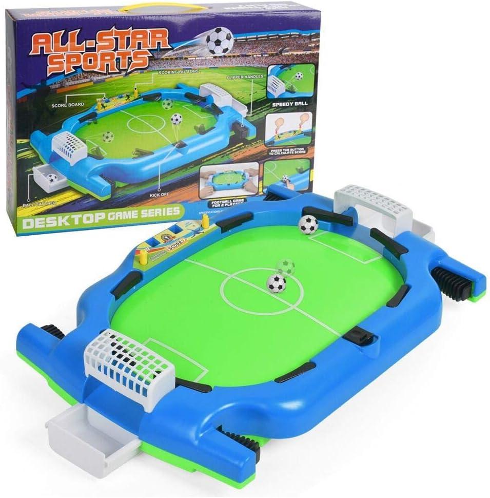 QYHSS Mini Futbolín, Campo de Fútbol Infantil Adulto, Fútbol, 12 Jugadores Incl. 1 Bola, para niños, 38.5 * 24.5 * 10.5 CM: Amazon.es: Hogar