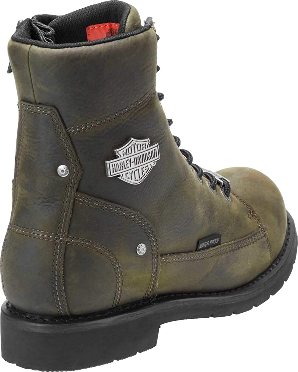Harley-Davidson Men/'s Carrington 5.25-Inch Waterproof Motorcycle Boots D96194