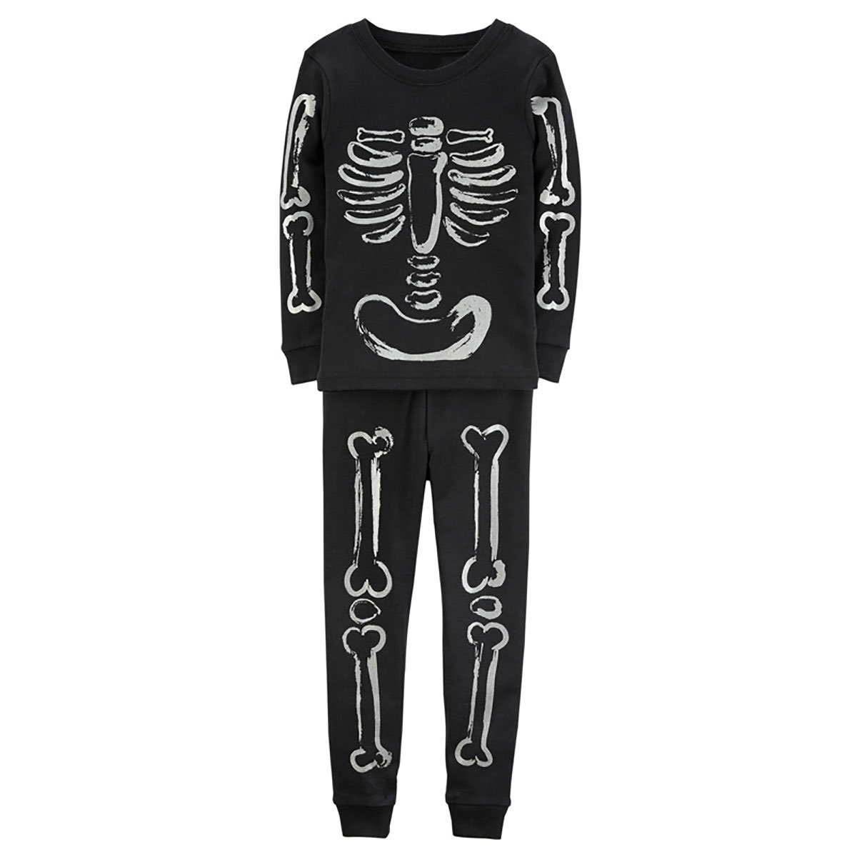 Kids Boys Skeleton Bones Costume Cotton Pajamas Clothes Set G7559