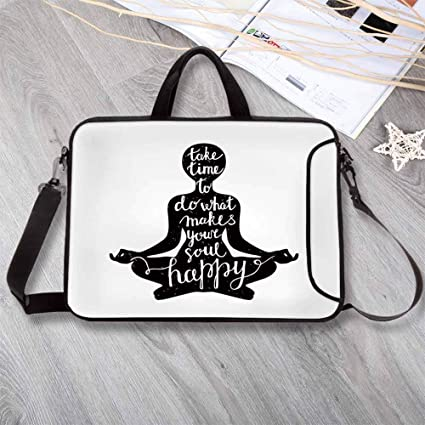 Amazon.com: Yoga Printing Neoprene Laptop Bag,Black ...