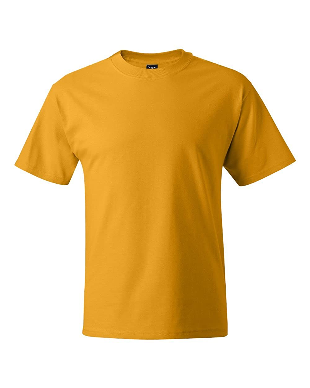 Hanes Mens Lay-Flat Tag-Free Crewneck Beefy T-Shirt