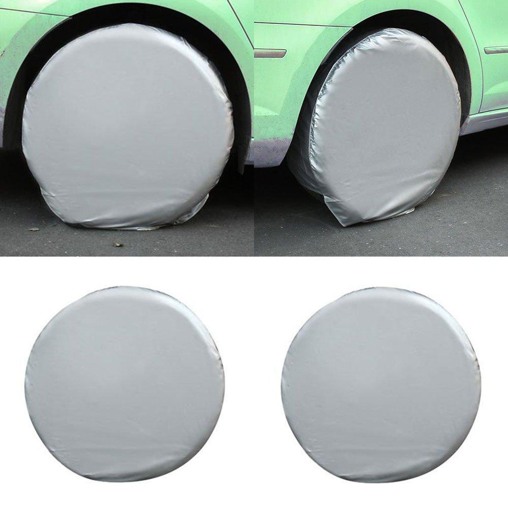 Sedeta Reifen Reifenabdeckung 4PCS Reifenhü lle Case Soft Bag Protector Heavy Duty Waterproof Auto fü r Wohnmobil RV Truck Trailer