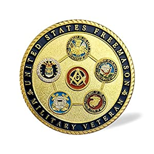 US Veteran Proud Military Family Coin Air Force Navy Marine Corps Army Coast Guard Challenge Coin Masonic Accessories from JYG