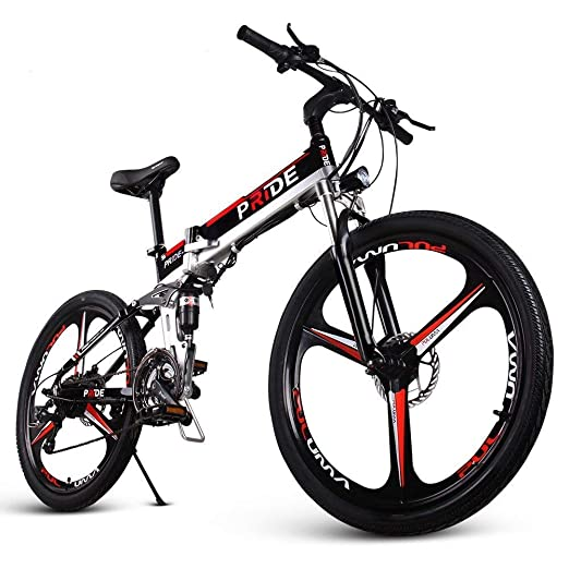 Amazon Com Engwe Folding Full Suspension Electric Bike With 26