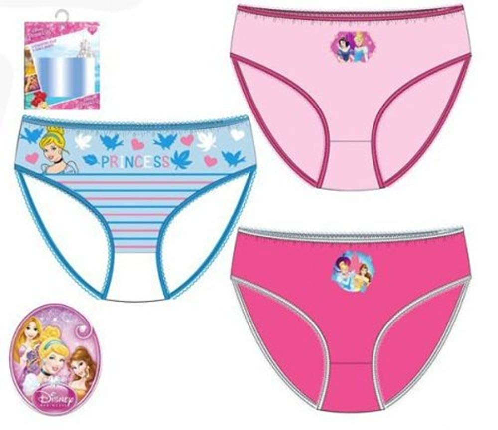 Princess Cinderella Pack 3 Slips Underwear Kid Girl Cotton Model//Color Can Vary