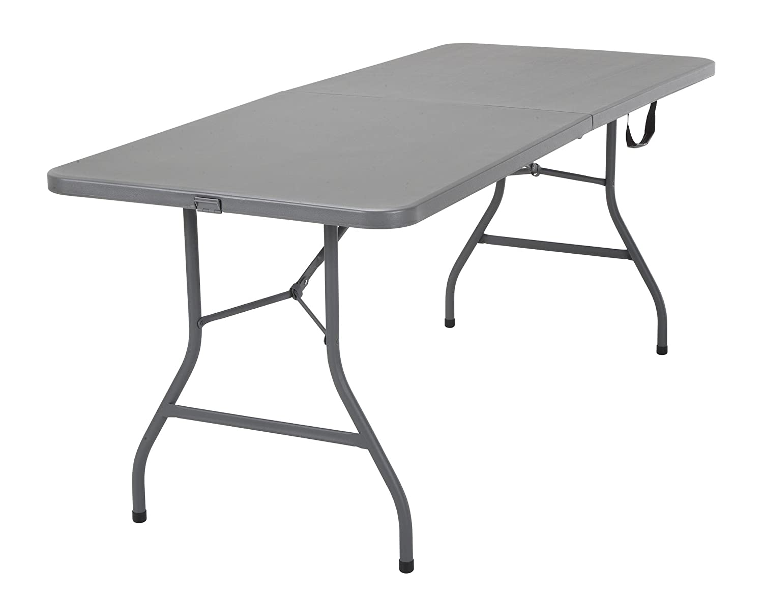 6' Signature Series Blow Mold Centerfold Table, Gray