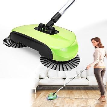 Travel Mall - Robot aspirador para barre sin electricidad E376 mano escoba, recogedor y cubo de basura 3 en 1: Amazon.es: Hogar