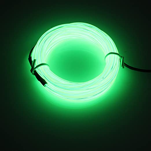 Lerway Light Green 5M Tron Neon Glowing Electroluminescent Wire EL Wire with Transformer Christmas Light Party & Lerway Light Green 5M Tron Neon Glowing Electroluminescent Wire EL ...