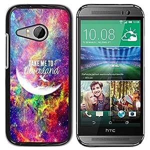 PC/Aluminum Funda Carcasa protectora para HTC ONE MINI 2 / M8 MINI take me to moon universe neverland / JUSTGO PHONE PROTECTOR