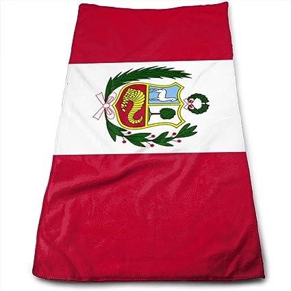 ZP-CCYF - Toallas de baño de Microfibra con diseño de la Bandera de Perú