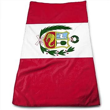 ZP-CCYF - Toallas de baño de Microfibra con diseño de la Bandera de Perú, para Gimnasio o Piscina: Amazon.es: Hogar