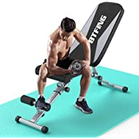 BTFING Adjustable Weight Bench Press, Workout Bench for Strength Training Equipment, Foldable Home Gym Bench for…