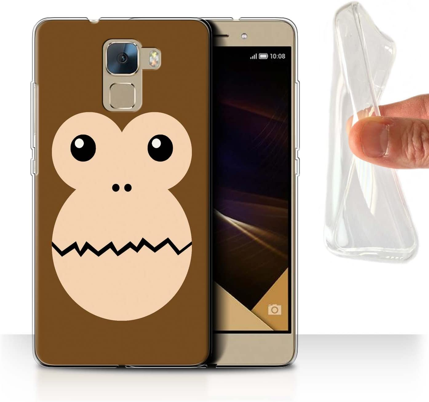 Stuff4 - Funda para móvil, diseño de dibujos animados mono Huawei ...