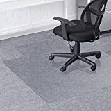 Valuebox Transparent 48' x 36'PVC Home Office Chair Mat For Hard Floors,2.20mm Thick with Lip For Wood/Tile
