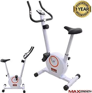 Max Strength MAXSTRENGTH – Bicicleta estática, 4 kg Volante, 8 ...