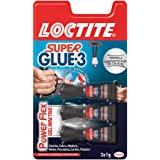 Loctite Super Glue-3 Power Flex Mini Trio, gel adhesivo flexible y resistente, pegamento instantáneo para superficies…