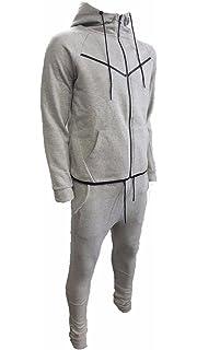 US Patrol Boys Tracksuits Kids Slim Fit Fashion V Stripe Joggers Skinny Fleece Jogging Bottom Hooded Zip Up Top