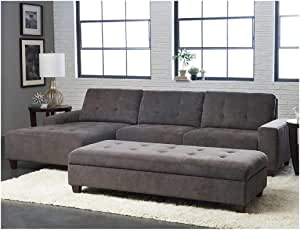 Amazon Com Klaussner Killian Fabric Sectional With
