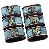 NOVICA Bronze and copper napkin rings, Set of 6, Pre-Inca Images