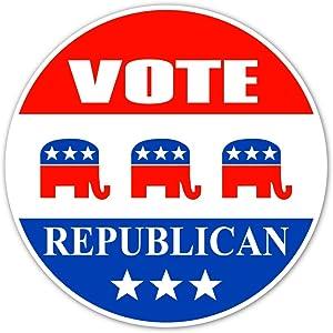 "Vote Republican Pro Conservative Values Vinyl Decal Bumper Sticker / Laptop Sticker 5"" inches X 5"" inches"