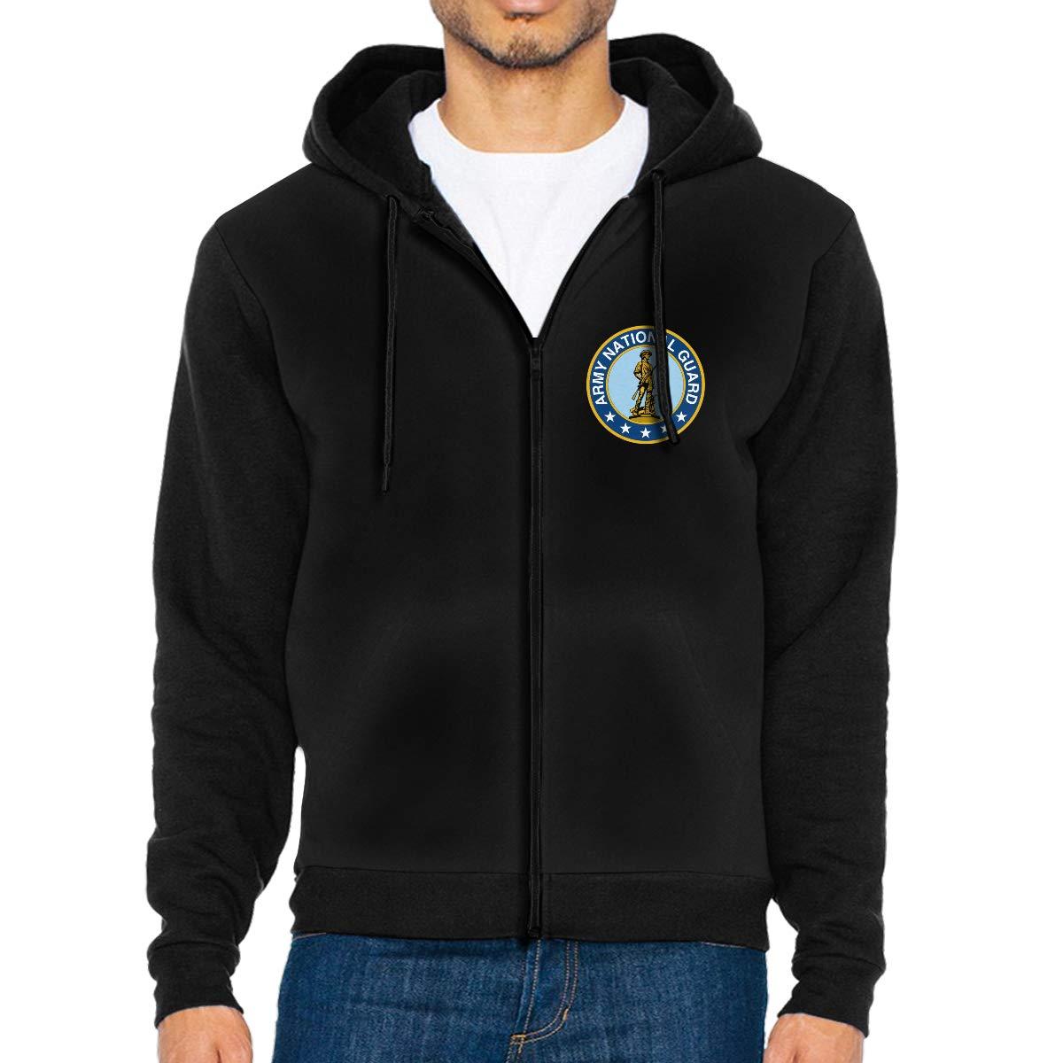 Maine Army National Guard Mens Full-Zip Up Hoodie Jacket Pullover Sweatshirt