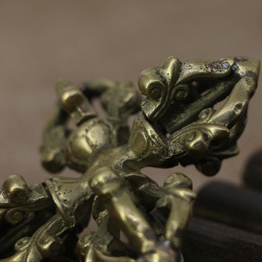 Nepal Handmade Tibetan Handicraft Buddhist Copper Cross Dorje Vajra Pestle
