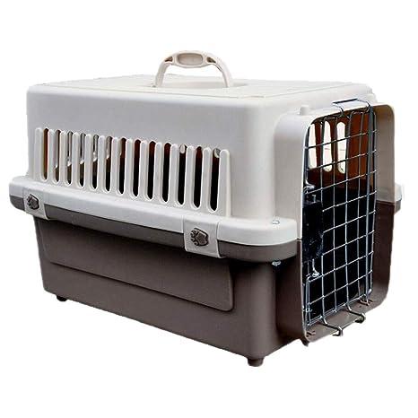 FJH Caja de Mascotas Beige Caja de plástico Jaula Gato Perro ...
