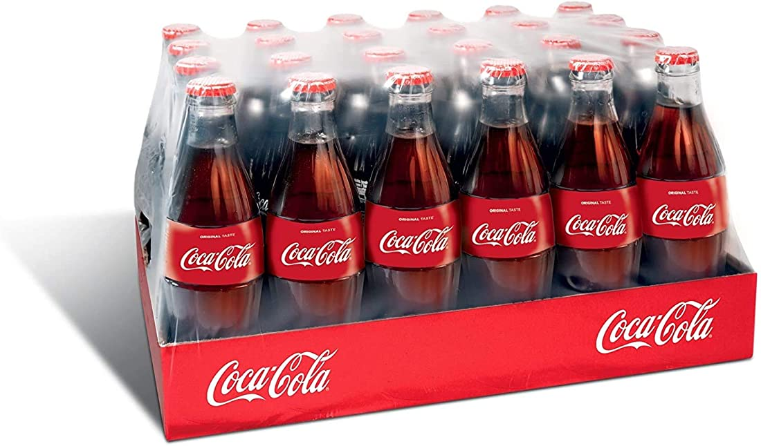 Bottiglie di vetro coca cola original taste 330ml x24 B07T3L3B5H