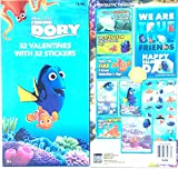 Disney Pixar Finding Dory 32 valentines Day Cards With 32 Stickers Dory, Nemo, Marlen, Hank
