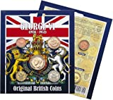 George VI Original British Coins - Farthing, Half Penny, One Penny, One Shilling and Three Pence by Westair