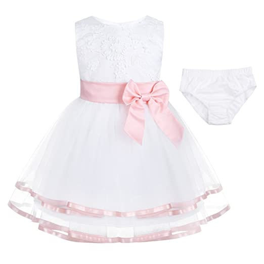 de4bbe310 Amazon.com  FEESHOW Baby Girls  Embroidered Flower Party Wedding ...