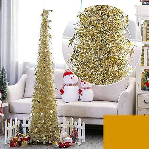 WDDH Árbol de Navidad Plegable, con Lentejuelas Reflectantes, decoración de Navidad para el hogar, Fiesta, Boda, Chimenea,...
