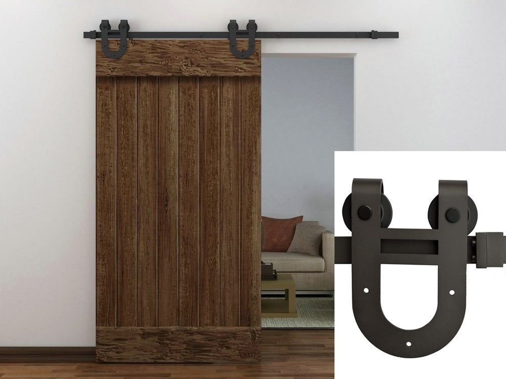 Amazon.com: TMS SlidingDoorHardware-OJ-TSQ06-ORB Horseshoe Barn ...