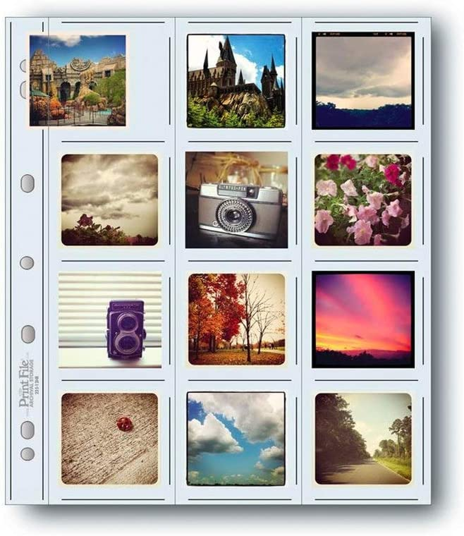 Printfile 22512HB100 Printfile Top Load Holds 12 21//4 X 21//4 Slides 100 Pack