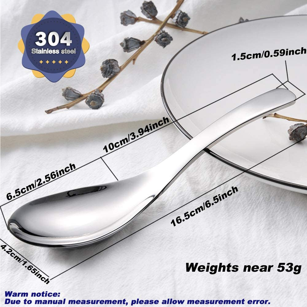 Color: Silver . Wenkoni SUS 304 Stainless Steel Heavy-weight Spoons,Soup Spoons,Table Spoons